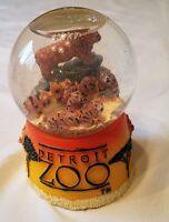 Vintage Detroit Zoo Snow Globe Late 1990's New and Unused