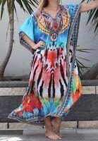 Silk Blend Kaftan with Embellishment