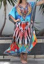 Silk Blend Kaftan with Embellishment