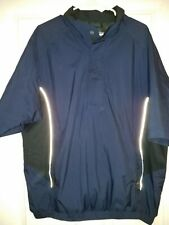Dryjoys by Footjoy 1/2 Zip Short Sleeve Pullover Rain Wind Lined Jacket Large