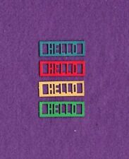 New listing Word Scalloped Hello die cuts scrapbook cards