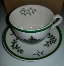 Brand New NWT Spode Christmas Tree Coffee Tea Cup and Saucer Gift Mint Holiday
