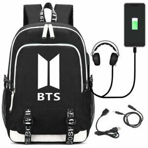 BTS Rucksack Luminous USB Backpack Studenttasche Schulrucksack Sportrucksack·DE2