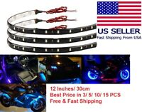 Lot 12V Flexible LED Strip Light Waterproof For Car Boat Motor 30cm 1FT 15SMD