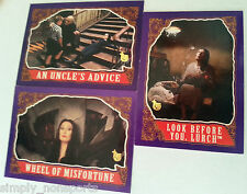 4 CARD-LOT TOPPS ANNIVERSAY 75TH BUYBACK  ADDAMS FAMILY / MORTICIA