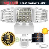 16000LM LED Solar Motion Sensor Light Flood Indoor Outdoor Garden Lamp Spotlight