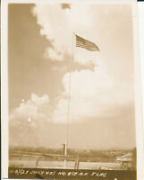 WWII 1945 USAAF cameraman's Okinawa Photo #20 8th AF HQ Flag