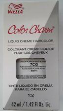 Wella Color Charm Permament Liquid HairColor 42mL 7CG Medium Platinum Gold Blond