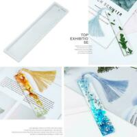 DIY Rectangle Silicone Bookmark Mold Making Epoxy Resin Mould Art BEST M6K9