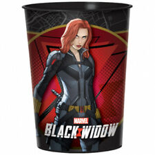 BLACK WIDOW MARVEL AVENGERS REUSABLE KEEPSAKE CUPS (2) ~ Birthday Party Supplies