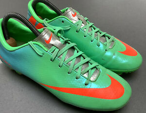 NIKE Mercurial Victory IV FG Green Red Football Soccer Boots 555613-508 UK 6 US7