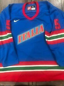 ITALY 1996 UNDER 20 GAME WORN IIHF GAME WORN NIKE JERSEY