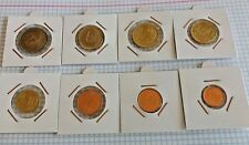 Serie 8 Monedas de Euro España año 2002 Lote Completo SIN CIRCULAR en cartones