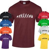 Évolution de Geek T-Shirt Hommes Drôle Maniaque Ordinateur Science Joueur Cadeau
