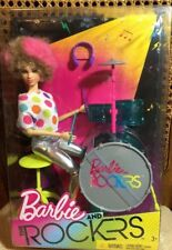 NEW 2017 Barbie and the Rockers Drummer Barbie Doll Biracial Afro FHC07