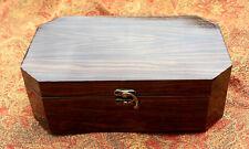 "Walnut Wood Veneer Pet Urn Hinged Box 10.6"" x 6.5"" x 3.6"" Free Priority Ship S1"