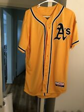 Oakland A's Yellow Majestic Jersey Athletics Size 44 *READ DESC.*