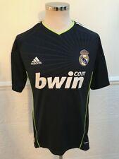 Adidas REAL MADRID Away 2010-2011 FOOTBALL KIT SHIRT SOCCER JERSEY Black SIZE M