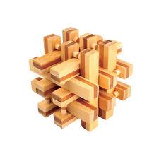 casse tete en bois bambou, modèle Verrou Infernal, difficulté 3 etoiles