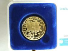 1998 ISRAEL 50th ANNIVERSARY/JUBILEE PROOF COIN 10NIS 30mm 0.5oz PURE GOLD