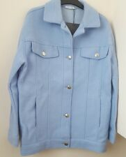 ZARA SKY BLUE OVERSIZED JACKET WITH POCKETS  BNWT SIZE M
