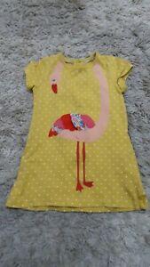 girls baby boden flamingo dress 12-18 months
