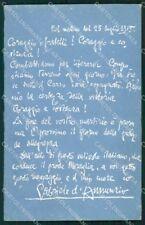 Personaggio Gabriele D'Annunzio Aviazione Trieste cartolina XF6794