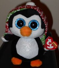 """Ty Beanie Boos ~ PENELOPE the 6"""" Christmas Holiday Penguin~ 2017 NEW ~ IN HAND"""