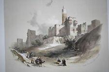 David Roberts 1841 H/C 1st Folio Edition Litho TOWER OF DAVID JERUSALEM