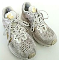 Nike Womens Size 7 White/Gold ZOOM WINFLO 5 Trail Training Running shoes