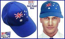 AUSSIE FLAG Adult Blue CAP HAT Australia Commonwealth Olympic Sports BBQ Party