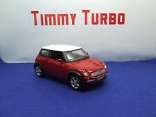 MINI COOPER BMW RED WHITE ROOF 1:35 MAISTO 95 MM LONG