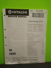 Hitachi Video Camera Recorder Service Manual # 3546E see pics