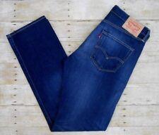 "LEVI'S 501 Straight Leg Jeans Men's Sz 34x34 (33"") Dark Blue Wash Button Fly EUC"