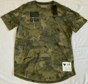 Under Armour Men's Project Rock Veteran's Day Graphic T-Shirt Sz. XXL NWT