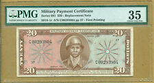 Replacement US Military Payment Certificate Series 681 $20 Replacement PMG 35