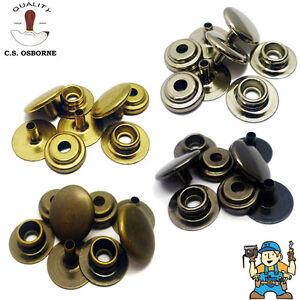 C.S Osborne Solid Brass / Steel Snap Fasteners - Antique, Black, Nickel, Brass