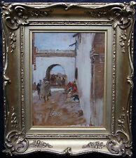 ALEXANDER ROCHE 1861-1921 ORIENTALIST OIL PAINTING MOROCCO ARAB  GLASGOW BOY ART