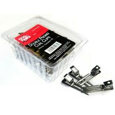 Hair Tools Double Prong Curl Clips box 72 silver effect
