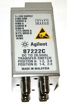 Agilent 87222C Coaxial Transfer Switch DC to 26.5 GHz SMA 24 VDC/TTL  tested
