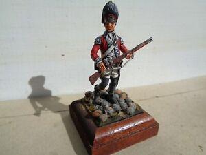 Lasset or Stadden, 1776 British Grenadier 54mm lead painted by Frank Burns, JJ