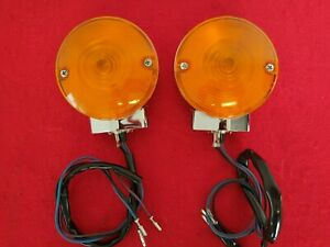 GENUINE 2015 HARLEY OEM TOURING CHROME FRONT TURN SIGNAL FOR AUXILIARY 68766-94