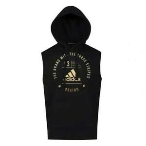 Adidas Boxing Sleeveless Hoodie Black Gold