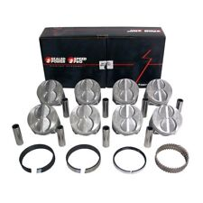 SPEED PRO Ford 289 302 Flat Top Hypereutectic Coated Pistons + MOLY Rings STD