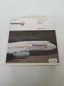 Herpa Wings 1:500 Boeing 747-8 Fanhansa Aircraft Model (527187) Modellairport500