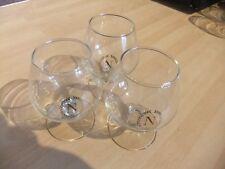 3 x Napoléon Ballon COGNAC BRANDY petits verres pub/bar/MAN CAVE