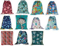 Lightweight Drawstring Shoulder Bag School Swimming Beach Shopping PE Kit