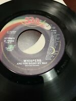 45 Record Whispers Are You Going My Way/Rocksteady VG Disco Soul