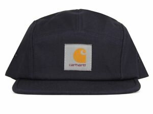 Carhartt Wip Backley 5 Panel Watch Hat Dark Blue Logo Cap Streetwear Navy