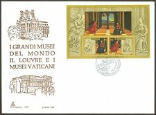 Vatican City Sc# 1314, The Louvre sheetlet, First Day Cover